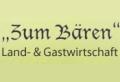 """Logo Landgasthof Gastwirtschaft  """"Zum Bären"""""""