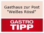 """Logo Gasthaus zur Post  """"Weißes Rössl"""""""