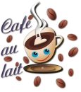 Logo Cafe au lait  Klaus Mück
